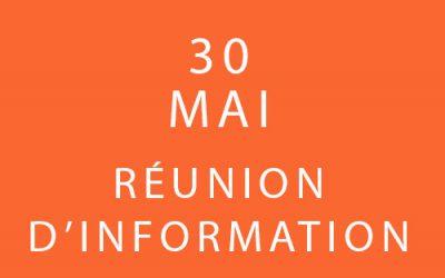 30 Mai – Réunion d'information – Formation «Coach professionnel»