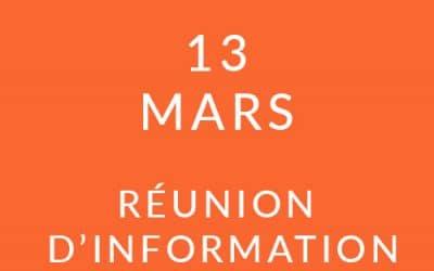 """Formation """"Coach professionnel"""" – Réunion d'information 13/03/19"""