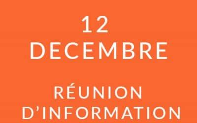"""Formation """"Coach professionnel"""" – Réunion d'information 12/12/18"""