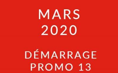 Démarrage Promo 13 – Formation « Coach professionnel »