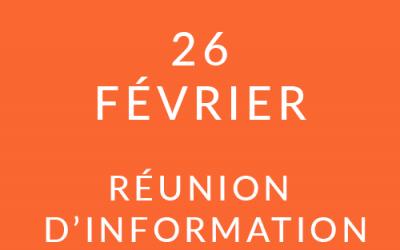 """Formation """"Coach professionnel"""" – Réunion d'information 26/02/20"""