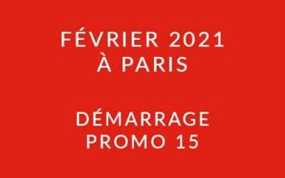Démarrage Promo 15 – Formation « Coach professionnel »