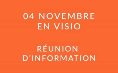 """Formation """"Coach professionnel"""" – Réunion d'information 04/11/20"""