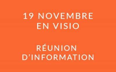 """Formation """"Coach professionnel"""" – Réunion d'information 19/11/20"""