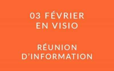 """Formation """"Coach professionnel"""" – Réunion d'information 03/02/21"""