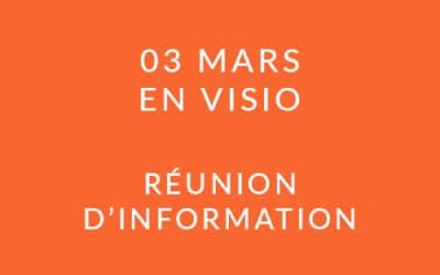 """Formation """"Coach professionnel"""" – Réunion d'information 03/03/2021"""