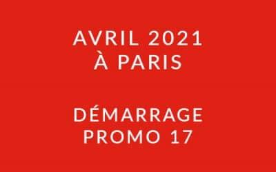 Démarrage Promo 17 – Formation « Coach professionnel » à Paris