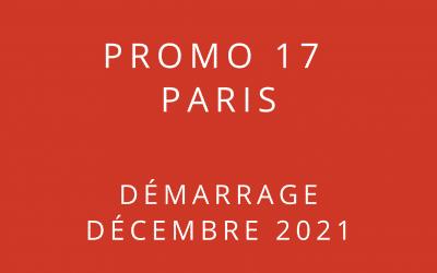 Démarrage Promo 17 Paris – Formation « Coach professionnel »