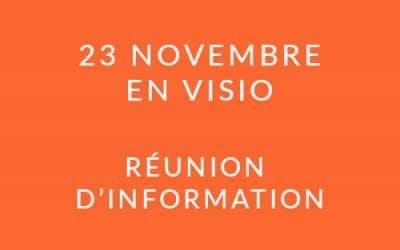 """Formation """"Coach professionnel"""" – Réunion d'information 23/11/21"""